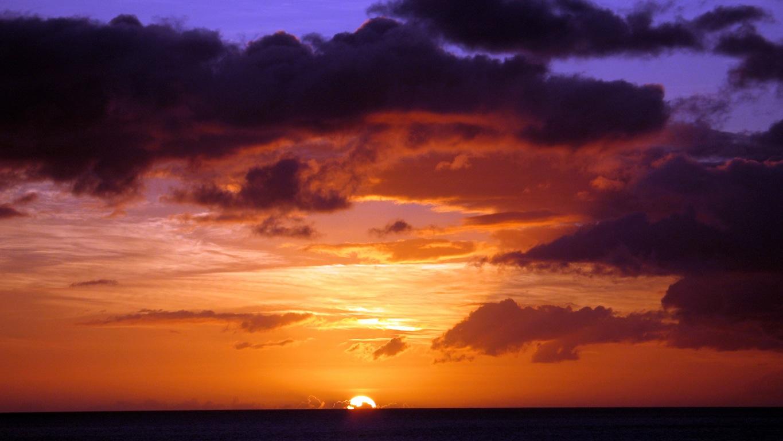 L'embrasement du ciel en fin de journée