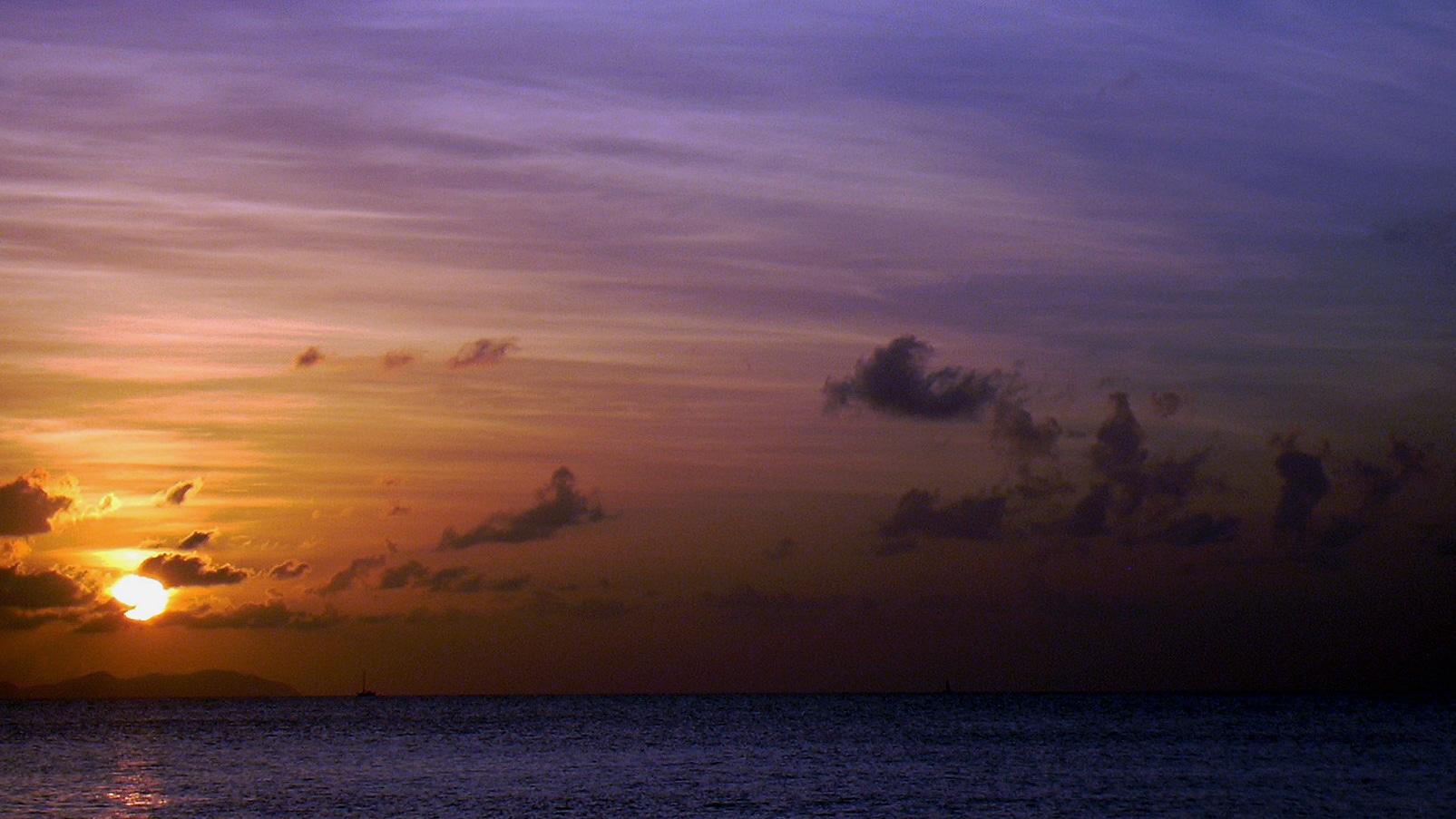 Magnifique coucher de soleil en Guadeloupe