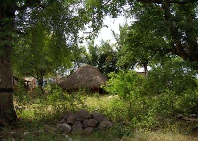 Un village typique sur la route entre Mahabalipuram et Tiruvannamalai (Tamil Nadu)