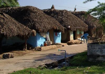Un bien beau village sur la route entre Pondichéry et Kumbakonam