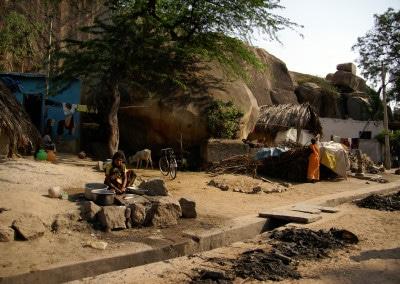 Un village aux environs de Hampi