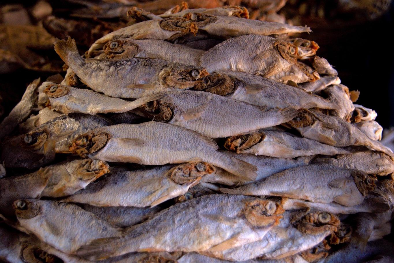 Dans le Coorg c'est poisson séché