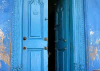 Porte d'entrée d'une maison dans le quartier musulman de Vellore