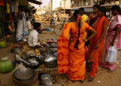 Scène de rue à Chitradurga