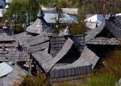 Les toits d'ardoise de Sangla (Himachal Pradesh)